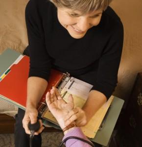 Caregiving Taking Pulse Image