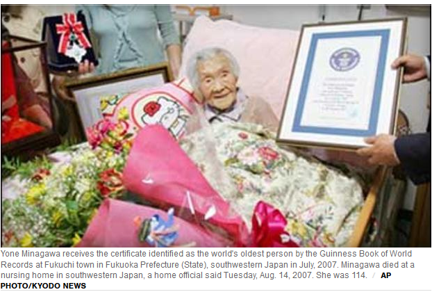 Yone Minagawa at 114 was the World's Oldest Person