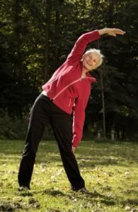 60+ Woman Exercising