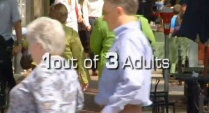 1 of 3 Adults is Obese in the U.S.