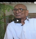 100-Year-Old Man Studying for a Doctorate Degree