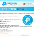 Free Webinar on Parkinson's Hospital Care Offered by National Parkinson Foundation
