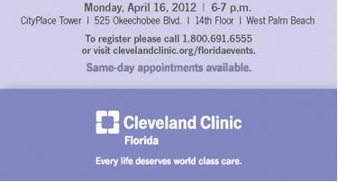 Cleveland Clinic Florida - Health Talk on Fibroids - April 16, 2012