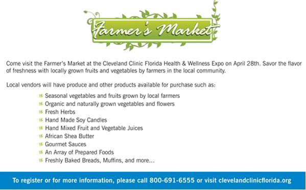 Click Here to Register for the Cleveland Clinic Florida - Health & Wellness Expo - April 28, 2012