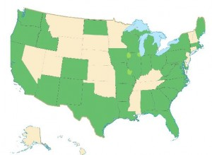 Money Smart Week® Events to be Held in the Green States - April 21-28 (map from Federal Reserve Bank of Chicago website)