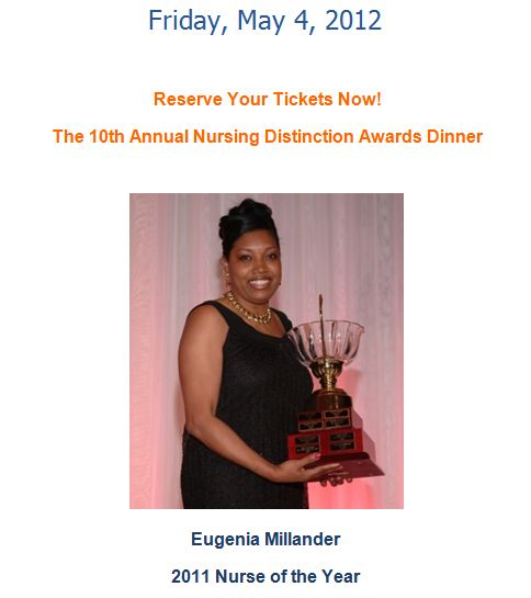 Eugenia Millander, Nurse of the Year 2011 - Palm Healthcare Foundation