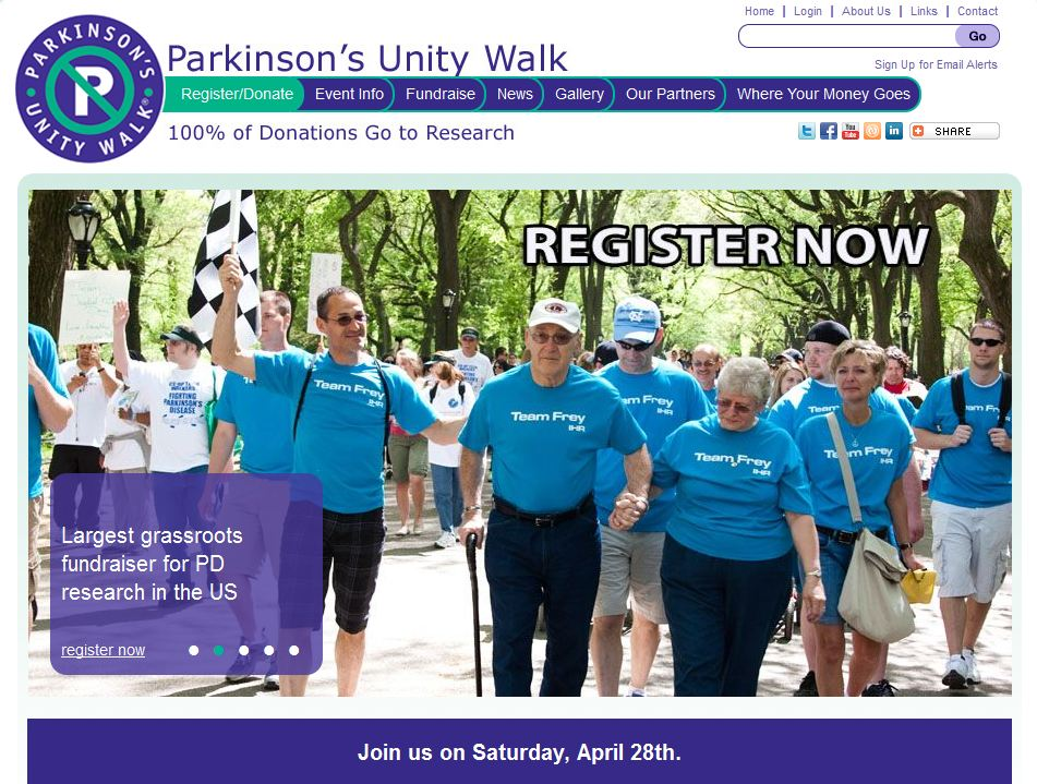 Parkinson's Unity Walk - New York City - April 28, 2012