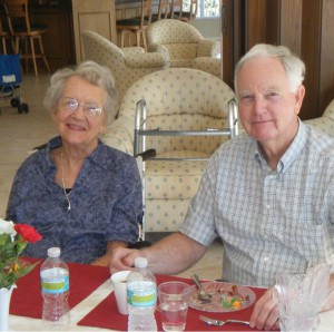 Jackie Barber with her Husband Joe at a family gathering