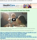 HealthCare.gov Features 5 Prevention Resources for You and Your Family
