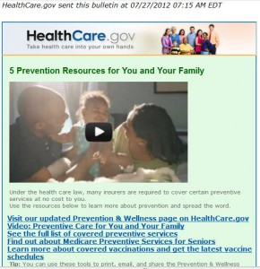 5 Prevention Resources for You and Your Family made available under the new Health Care Law