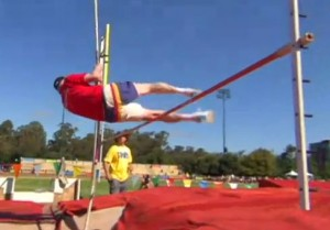 Don Pellman, Age 94, Senior Olympics Champion - Pictured Pole Vaulting