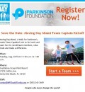 Parkinson Moving Day Miami Oct 7 – Lunch for Team Captains Aug 28