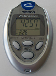 Pedometer (image courtesy of Wikipedia Commons)
