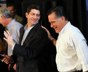 Running Mates Paul Ryan and Mitt Romney