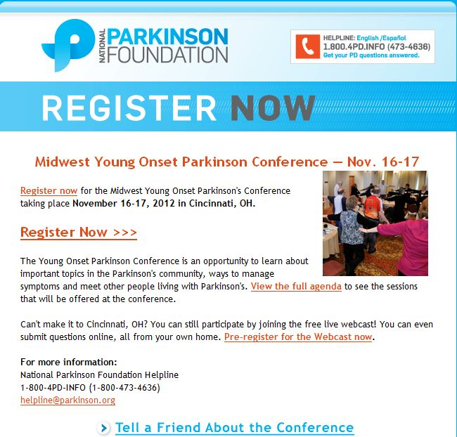 Parkinson Foundation Offers Free Young Onset Parkinson's Webcast