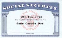 Sample Social Security Card (Image courtesy of Wikipedia Commons)