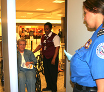 TSA Provides Assistance for Travelers with Disabilities (Image courtesy of TSA website)