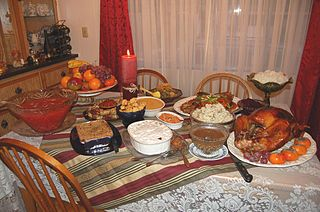 An (Almost Traditional) Thanksgiving Dinner (Image courtesy of Wikipedia Commons)