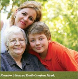 National Family Caregivers Month 2012 (Image courtesy of poster provided by National Family Caregivers Association)