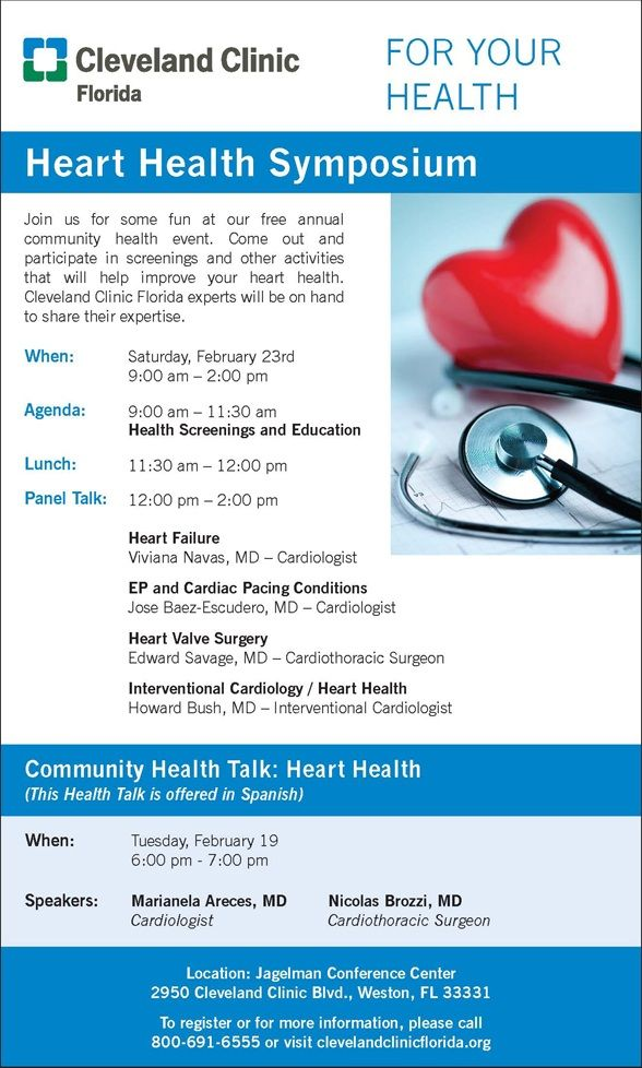 Cleveland Clinic Heart Health Symposium - February 19, 2013