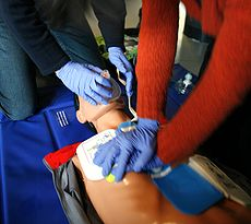 Cardiopulmonary Resuscitation (Image courtesy of Wikipedia Commons)