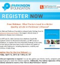 What Factors Lead to Better Quality of Life with Parkinson's?  New Study Findings; Webinar