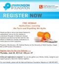 Free Webinar on Parkinson's Medications Offered by National Parkinson Foundation