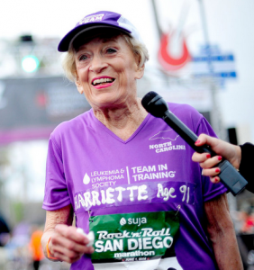 91 Year Old Hariette Thompson Sets a Marathon Record!